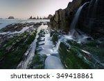 playa de gueirua  asturia  spain | Shutterstock . vector #349418861