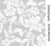 seamless flower background  ... | Shutterstock .eps vector #349424441