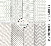 seamless patterns set. modern... | Shutterstock .eps vector #349428581