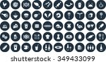 food icons set. eps 10. | Shutterstock .eps vector #349433099
