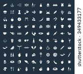 food icons set. eps 10.   Shutterstock .eps vector #349433177