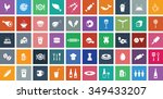 food icons set. eps 10. | Shutterstock .eps vector #349433207