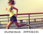 young fitness woman runner... | Shutterstock . vector #349436141