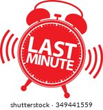 last minute alarm clock icon ... | Shutterstock .eps vector #349441559