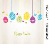 lovely easter design | Shutterstock .eps vector #349442951