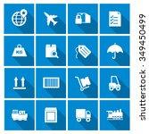 vector shipping  air transport... | Shutterstock .eps vector #349450499