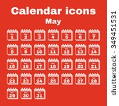 the calendar icon.  may symbol. ... | Shutterstock .eps vector #349451531