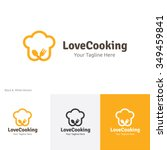 love cooking logo food logo... | Shutterstock .eps vector #349459841