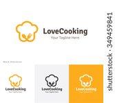 love cooking logo  food  ... | Shutterstock .eps vector #349459841