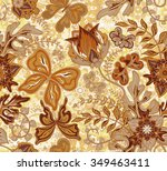 seamless floral pattern with... | Shutterstock .eps vector #349463411
