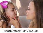 family concept. mom hugging... | Shutterstock . vector #349466231