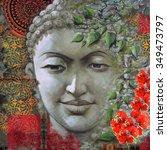 Stone Figure Face Of Buddha...