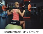 back view of slim athletic... | Shutterstock . vector #349474079