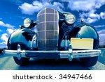 vintage car   Shutterstock . vector #34947466