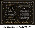 merry christmas outline black... | Shutterstock .eps vector #349477259