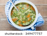 vegetable soup | Shutterstock . vector #349477757