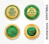 gold green labels vector set. | Shutterstock .eps vector #349478861