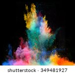 launched colorful powder ... | Shutterstock . vector #349481927