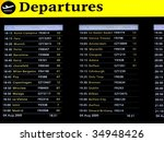 Departures Board On Airport