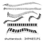 are different keyboard piano... | Shutterstock .eps vector #349485191