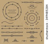 vector set nautical elements of ... | Shutterstock .eps vector #349485284