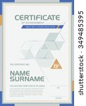 certificate template with clean