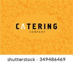 vector template of catering... | Shutterstock .eps vector #349486469