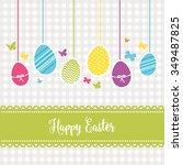 lovely easter design | Shutterstock .eps vector #349487825