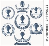 trophy and awards sign...   Shutterstock .eps vector #349490111