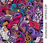 cartoon hand drawn doodles on...   Shutterstock .eps vector #349501139