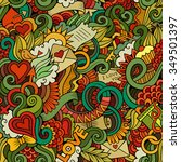doodles abstract decorative... | Shutterstock .eps vector #349501397