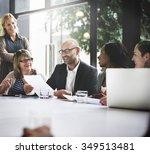 business people meeting... | Shutterstock . vector #349513481