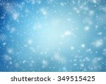 winter background with flying... | Shutterstock . vector #349515425