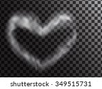 heart smoke. abstract... | Shutterstock .eps vector #349515731