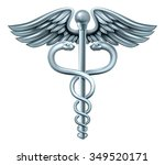 caduceus medical symbol or... | Shutterstock . vector #349520171