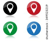 map pointer   color vector icon