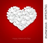 valentines card with heart... | Shutterstock . vector #349524761