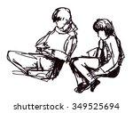instant sketch  figures of...   Shutterstock . vector #349525694