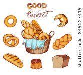 food set with a variety of...   Shutterstock .eps vector #349527419
