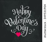 happy valentines day vintage... | Shutterstock . vector #349531904
