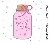 illustration of a pink jar with ... | Shutterstock . vector #349537961