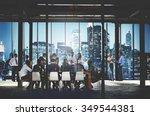 business people working working ... | Shutterstock . vector #349544381