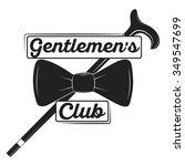 vintage gentlemen club logo ... | Shutterstock .eps vector #349547699