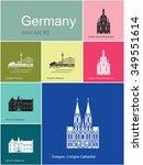 landmarks of germany. set of... | Shutterstock .eps vector #349551614