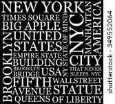 new york city wallpaper made of ... | Shutterstock .eps vector #349552064