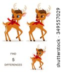 find differences  christmas... | Shutterstock .eps vector #349557029