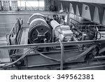 large industrial crane... | Shutterstock . vector #349562381
