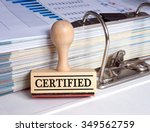 certified   rubber stamp with... | Shutterstock . vector #349562759