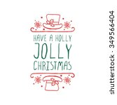 christmas label with text on... | Shutterstock .eps vector #349566404