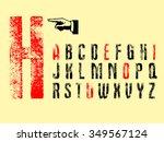 print type wood | Shutterstock .eps vector #349567124